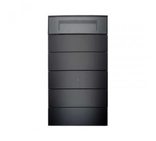 Hager Tastsensor 5-voudig met kamerthermostaat en display B.IQ glas zwart