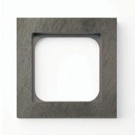 Basalte Frame - 1 gang - fer forgé grey
