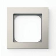 Basalte Frame - 1 gang - brushed nickel