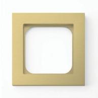 Basalte Frame - 1 gang - brushed brass