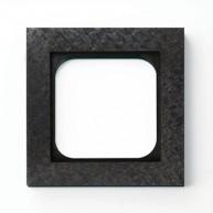 Basalte Frame - 1 gang - fer forgé gunmetal