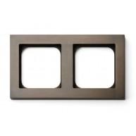 Basalte Frame - 2 gang - bronze