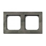 Basalte Frame - 2 gang - fer forgé grey