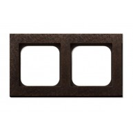 Basalte Frame - 2 gang - fer forgé bronze