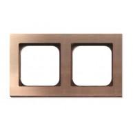 Basalte Frame - 2 gang - soft copper