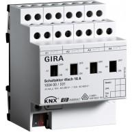 Gira KNX Schakelactor viervoudig 16 A met handbediening