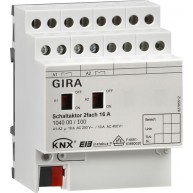 Gira KNX schakelactor tweevoudig 16 A met handbediening