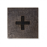 Basalte Eve plus - wall base cover - fer forgé bronze