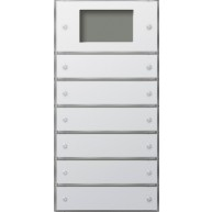 Gira Tastsensor 3 Plus zesvoudig (2+4) zuiver wit glanzend F100
