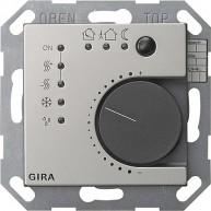 Gira KNX kamerthermostaat met 4 ingangen edelstaal 55