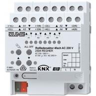Jung KNX rolluikactor 4-voudig 6A per uitgang met handbediening