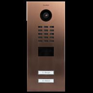 Doorbird Intercom inbouw geborsteld brons- 2 beldrukkers
