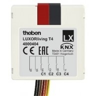 Theben LUXORliving T4 Impulsdrukker interface 4 voudig inbouw