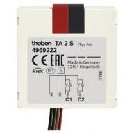 Theben TA 2 S KNX Impulsdrukker interface 2 kanaals binaire in- en uitgang inbouw