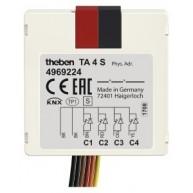 Theben TA 4 S KNX Impulsdrukker interface 4 kanaals binaire in- en uitgang inbouw