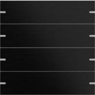Gira Wippenset tastsensor 4 viervoudig aluminium zwart
