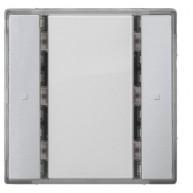 Siemens KNX Drukknop 1-voudig zonder status led - aluminum Delta i-system