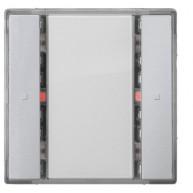 Siemens KNX Drukknop 1-voudig met status led - aluminum Delta i-system