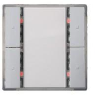 Siemens KNX Drukknop 2-voudig met status led - aluminum Delta i-system