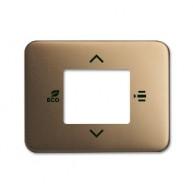 ABB KNX Centraalplaat voor thermostaat a-brons 6109/03-21