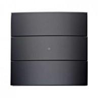 Hager Tastsensor 3-voudig comfort B.IQ glas zwart