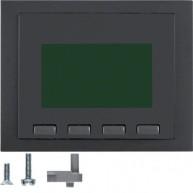 Hager Info-Display  K.1/K.5 antraciet mat