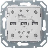 Hager Drukknopmodule 1-voudig geintegreerde busaankoppelaar S/B serie
