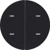 Hager Drukknop opzetmodule 2-voudig R zwart