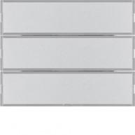 Hager Drukknop opzetmodule 3-voudig met tekstveld K aluminium
