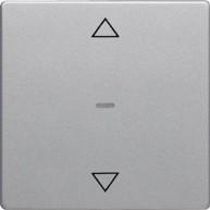 Hager KNX RF drukknop-opzetmodule jaloeziebediening Q.1/Q.3 aluminium