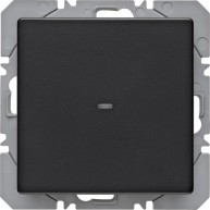 Hager KNX RF wandzender 1-voudig batterij Q.1/Q.3 antraciet soft finish