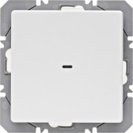 Hager KNX RF wandzender 1-voudig batterij Q.1/Q.3 polarwit soft finish