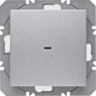 Hager KNX RF wandzender 1-voudig batterij S.1/B.3/B.7 aluminium mat