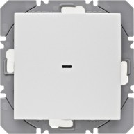Hager KNX RF wandzender 1-voudig batterij S.1/B.3/B.7 polarwit mat