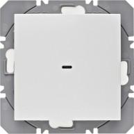 Hager KNX RF wandzender 1-voudig batterij S.1/B.3/B.7 polarwit glanzend