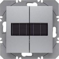 Hager KNX RF wandzender 2-voudig zonnecel S.1/B.3/B.7 aluminium mat