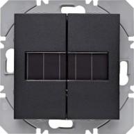 Hager KNX RF wandzender 2-voudig zonnecel S.1/B.3/B.7 antraciet mat