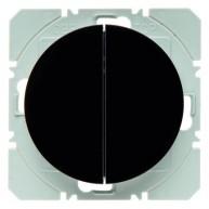 Hager KNX RF wandzender 2-voudig batterij R.1/R.3 zwart glanzend