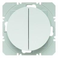 Hager KNX RF wandzender 2-voudig batterij R.1/R.3 polarwit glanzend