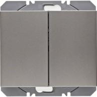 Hager KNX RF wandzender 2-voudig batterij K.1/K.5 edelstaal mat