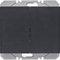 Hager KNX RF wandzender 2-voudig batterij K.1/K.5 antraciet mat