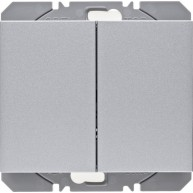 Hager KNX RF wandzender 2-voudig batterij K.1/K.5 aluminium mat