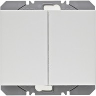 Hager KNX RF wandzender 2-voudig batterij K.1/K.5 polarwit glanzend