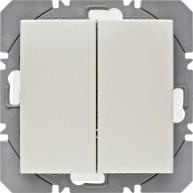 Hager KNX RF wandzender 2-voudig batterij S.1/B.3/B.7 wit glanzend