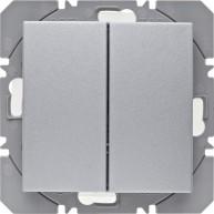 Hager KNX RF wandzender 2-voudig batterij S.1/B.3/B.7 aluminium mat