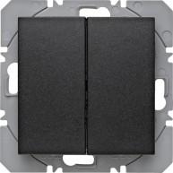 Hager KNX RF wandzender 2-voudig batterij S.1/B.3/B.7 antraciet mat
