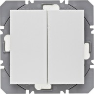 Hager KNX RF wandzender 2-voudig batterij S.1/B.3/B.7 polarwit mat