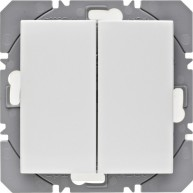 Hager KNX RF wandzender 2-voudig batterij S.1/B.3/B.7 polarwit glanzend