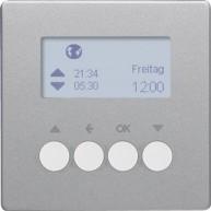 Hager KNX RF schakelklok-opzetmodule jaloeziebediening Q.1/Q.3 aluminium