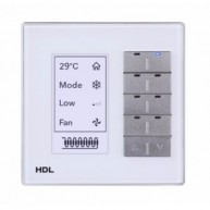 HDL M/DLP04.1-A2-48 Multifunctionele bediening met display KNX wit glas aluminium rand